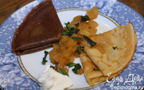 Рецепт Блины с ананасовым соусом
