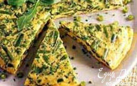 Рецепт Омлет со стручковой фасолью и руколой