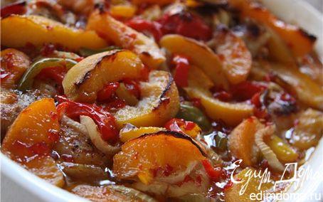 Рецепт Курица с персиками