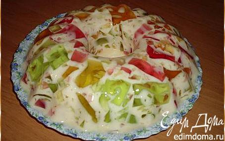 Рецепт Желейный тортик с фруктами
