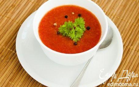 Рецепт Гаспачо из томатов и огурцов
