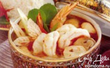 Рецепт Полинезийский креветочный суп
