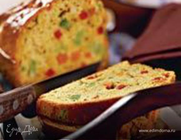 Цветной хлеб с овощами