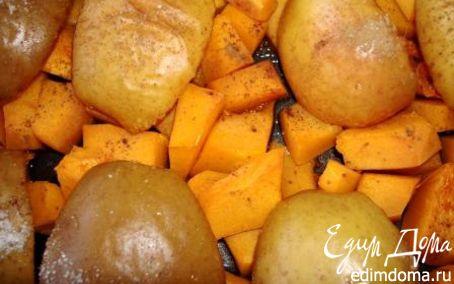Рецепт Запеченые тыква и яблоки