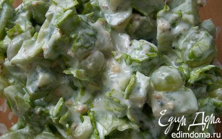 Рецепт Салат из киви с виноградом
