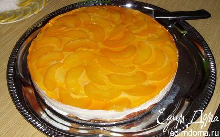 Рецепт Торт творожный с персиками