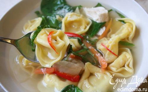Рецепт Суп с тортеллини для ленивых :)