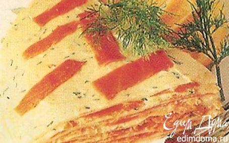 Рецепт Пирог с красной рыбой