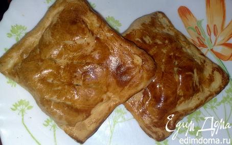 Рецепт Пирожки слоеные с яблоками, изюмом и корицей
