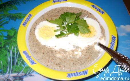 Рецепт Суп-пюре из лесных грибов и цукини