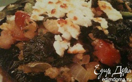 Рецепт Фаршированные грибы со шпинатом