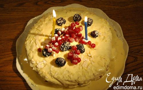 Рецепт Миндальный торт с заварным кремом