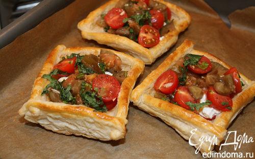 Рецепт Пирожки с козьим сыром, помидорами и базиликом