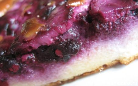 Рецепт Творожно-черничный пирог