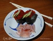 Суши-лодочки с икрой