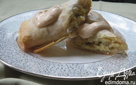 Рецепт Штрудель с ветчиной и сыром