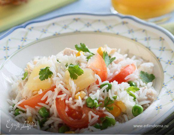 Гавайский салат с цыпленком
