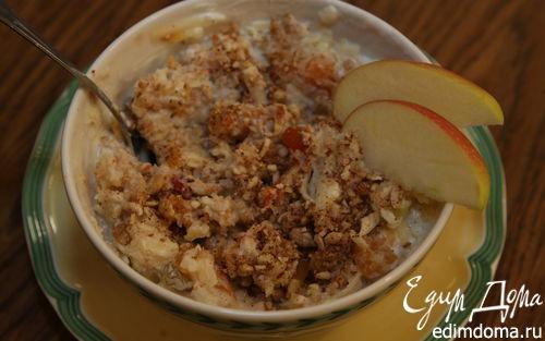 Рецепт Домашние мюсли с яблоками и сухофруктами