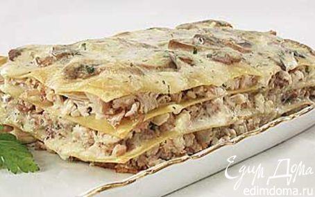 Рецепт Лазанья с курицей и грибами