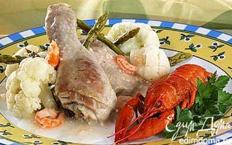 Рецепт Курица с раками и цветной капустой