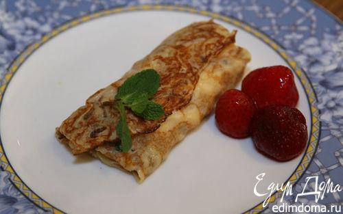 Рецепт Блинчики с творожно-цитрусовой начинкой
