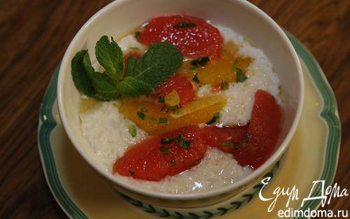 Рецепт Кремовый рис с цитрусовым соусом