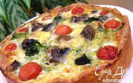 Рецепт Пирог с брокколи и грибами