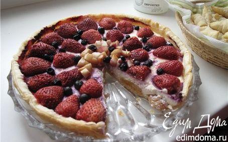 Рецепт Пирог творожно-ягодный