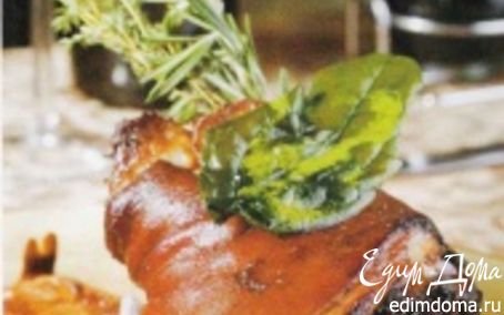 Рецепт Свиная рулька с капустой