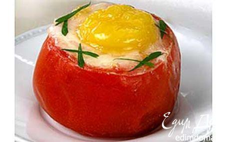 Рецепт Яичница в помидорах