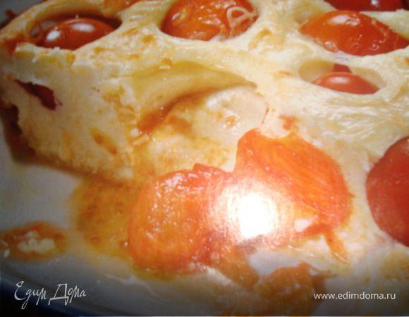 Творожная запеканка с помидорами