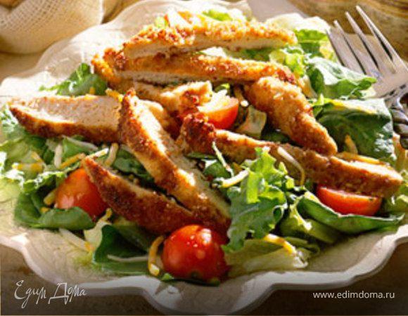 Изысканный салат с горчичной заправкой