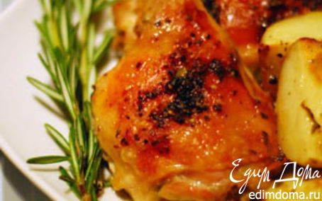 Рецепт Пикантная курица с овощами