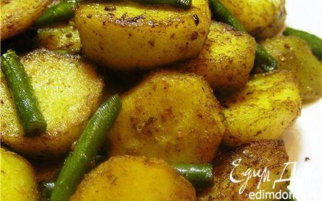 Рецепт Картофель карри со стручковой фасолью