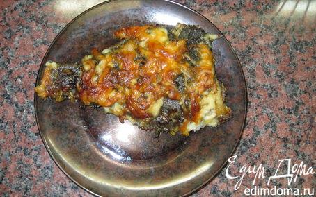 Рецепт Камбала, запеченая с зеленью и сыром