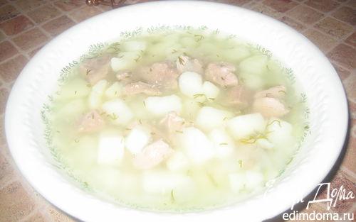 Рецепт Густой картофельный супчик с индейкой