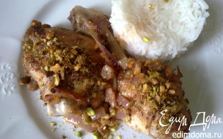 Рецепт Курица с шафраном и фисташками
