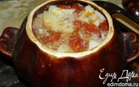 Рецепт Мясо с картофелем в горшочках