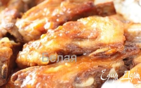 Рецепт Ребрышки в абрикосовой глазури