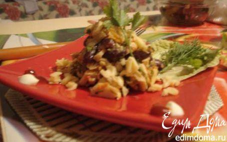 Рецепт Салат с фасолью и крабовыми палочками