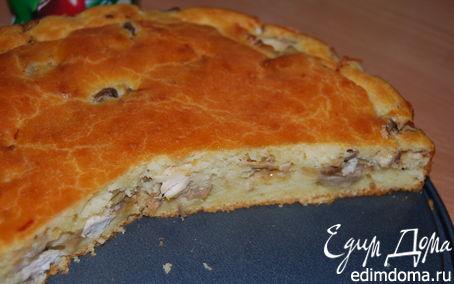 Рецепт Пирог с грибами и куриным филе
