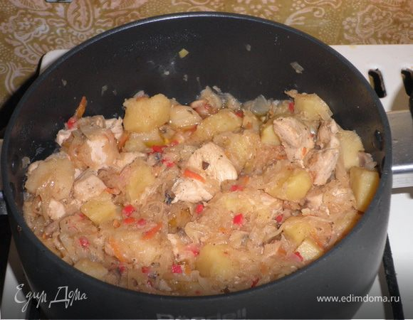 Солянка картофельная с квашеной капустой