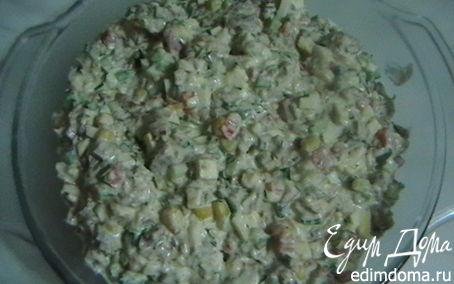 Рецепт Салат с говядиной и кукурузкой