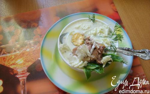 Рецепт Супчик с говядиной, яйцом и спаржей