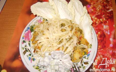 Рецепт Салат с шампиньонами и цветной капустой
