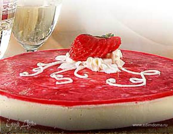Торт-мусс из заварного крема с желе