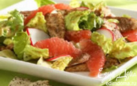 Рецепт Салат Сатэй из курицы и грейпфрукта