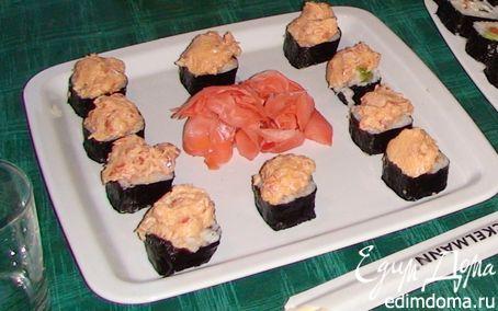 Рецепт Суши, запеченные с лососем
