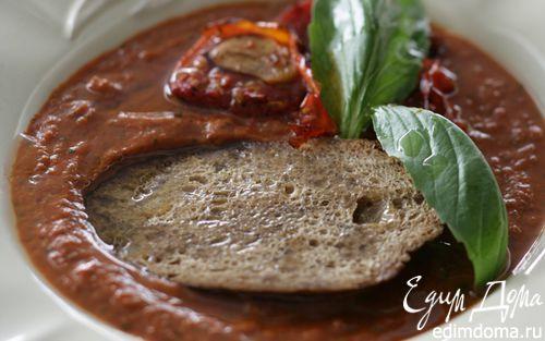 Рецепт Томатный суп с гренками