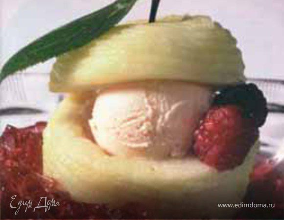 Яблочное мороженое с корицей ⎝⏠⏝⏠⎠